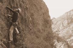Rock Climbing Photo: scott starting the Tower