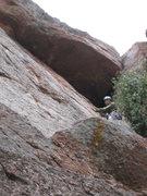 Rock Climbing Photo: 10-April-2010: Me below the roof