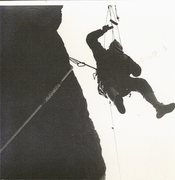Rock Climbing Photo: Historic photo.Paul Ross on the first ascent of Th...