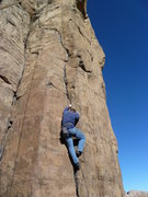 Rock Climbing Photo: The lower part.  Lots of finger locks.