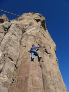 "Rock Climbing Photo: The only ""good"" rest on the lower sectio..."
