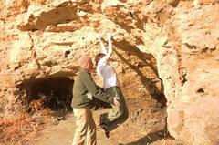 Rock Climbing Photo: Working some problem