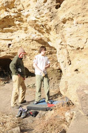 Rock Climbing Photo: Checkin out the feet