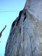 Rock Climbing Photo: Looking up the first few pitches on Leaning Tower