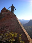 Rock Climbing Photo: Summit of Mt. Moroni, Voices from the Dust.  Good ...