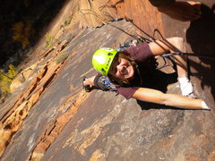 Rock Climbing Photo: Grunting and Happiness on Monkeyfinger.  Great cli...