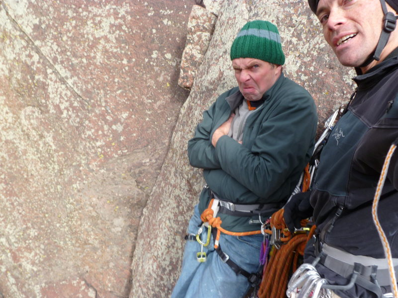 Rock Climbing Photo: Maybe it's a little too cold?