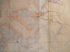 Rock Climbing Photo: Plumb-Stutzman Route contour interval: 100 feet on...