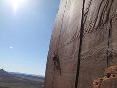 Rock Climbing Photo: jake going up ..