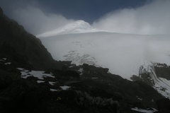 Rock Climbing Photo: Cayambe just before dark as viewed from above the ...