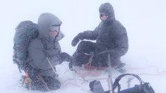 Rock Climbing Photo: Tom and Rebecca enjoy a snowy christmas morning on...