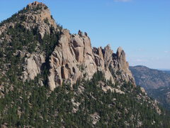 Rock Climbing Photo: Sunshine Wall and the Cathedral Spires