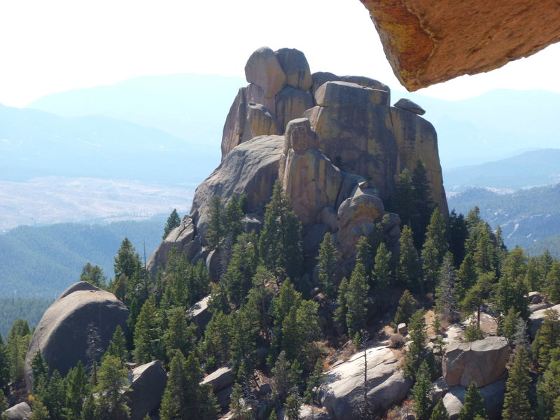 Rock Climbing Photo: The north side of the Bishop from the Dome.