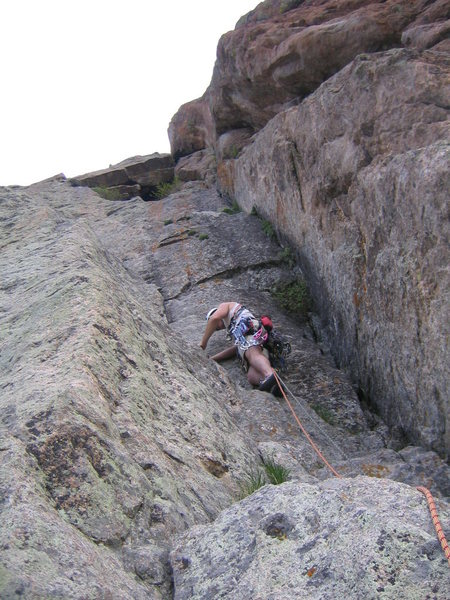 Rock Climbing Photo: Second pitch.