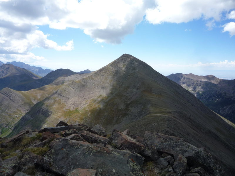 Rock Climbing Photo: Rito Alto Peak from UN 13,524.