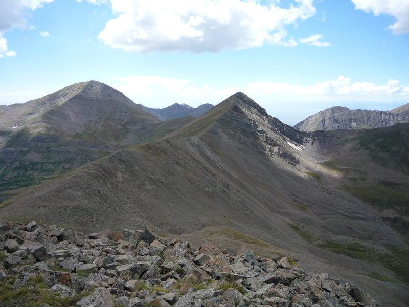 Rock Climbing Photo: Rito Alto and UN 13,524 from Spread Eagle Peak.