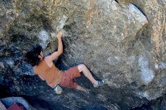 Rock Climbing Photo: Danny Baker: Handicapps.  My first V9, tough proje...