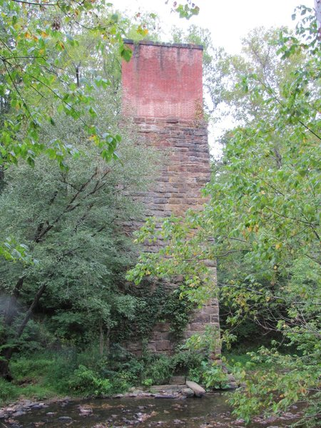 Rock Climbing Photo: The third trestle across the river, overgrown with...