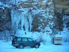 "Rock Climbing Photo: Wyalusing ice--Dennis's quarry left side ""Qua..."