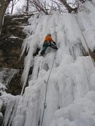 "Rock Climbing Photo: Burt L. leading ""Quarry Monster"" left si..."