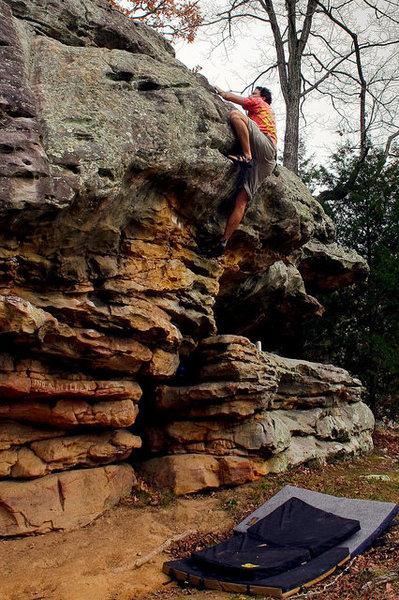 Rock Climbing Photo: roadside boulder