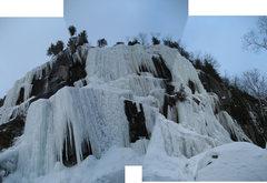Rock Climbing Photo: Baltique, WI4-5, 45m (150ft) Merged 2010-12-29