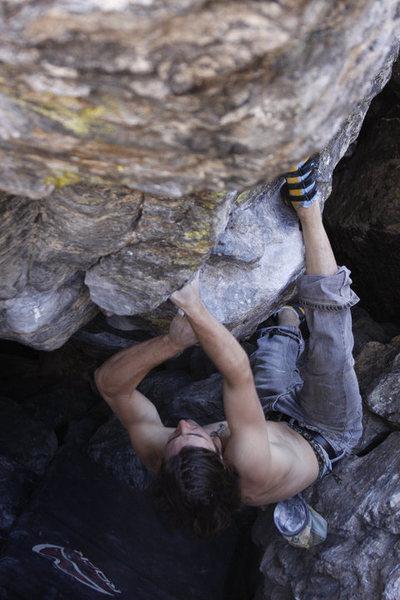 Rock Climbing Photo: Danny Baker: Tommy's Arete.  Photo credit: Dan Mon...