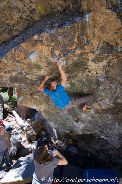 Rock Climbing Photo: Dan Moncur.  Photo credit: Axel Perschmann.