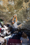 Rock Climbing Photo: Zac Rudy.  Photo credit: Axel Perschmann.
