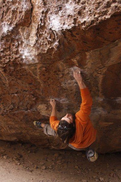 Rock Climbing Photo: Danny Baker: was my attempt.  Photo Credit: Dan MO...