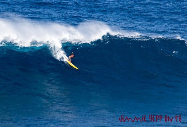Rock Climbing Photo: Marcia Freier paddled in to ths wave yesterday at ...