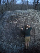 Rock Climbing Photo: Gaining the large undercling/sloper.