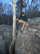 Rock Climbing Photo: Sketchy, swaying downclimb tree. Don't trust it to...