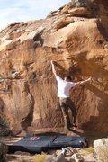 Rock Climbing Photo: Left Gonad V4