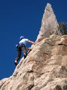 Rock Climbing Photo: Former City ranger Jay gettin' a solo lap in on th...