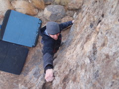 Rock Climbing Photo: Drew Halliday on unknown boulder problem
