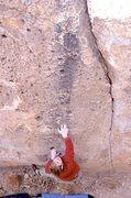 Rock Climbing Photo: Kevin Cady on unknown boulder problem.
