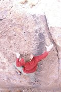 Rock Climbing Photo: Kevin Cady on unknown boulder problem.