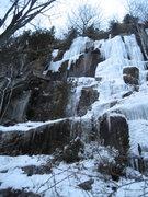 Rock Climbing Photo: Lietuva, WI4+ M?, 25m (85ft) Far left 2010-12-29
