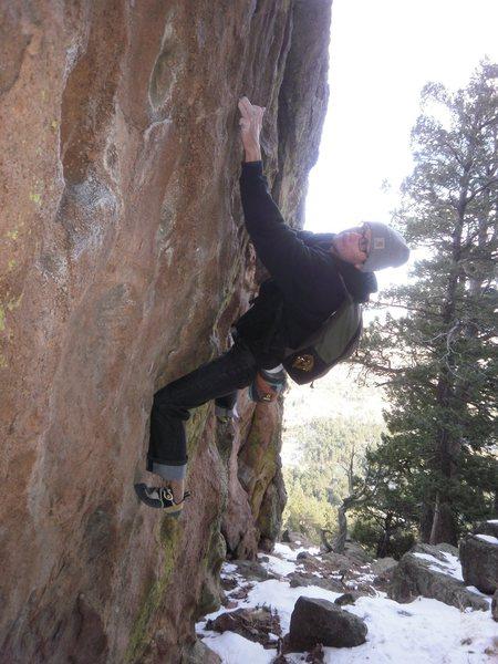 Rock Climbing Photo: Traversing.