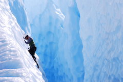 Rock Climbing Photo: crevasse climbing on the Matnuska, AK