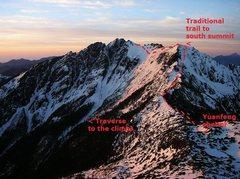 Rock Climbing Photo: North Face of Yushan South Summit, viewed from Yua...