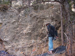 Rock Climbing Photo: the boulder with Flat linner, Split the Difference...