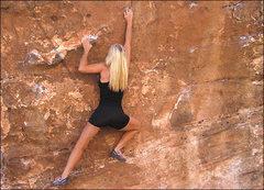 Rock Climbing Photo: Jona traversing the North Face of The Cube. Photo ...