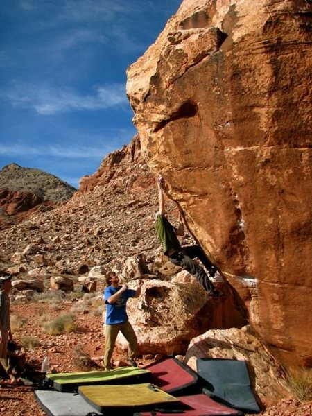 Rock Climbing Photo: NorMN on Fear of a Black Hat.  Early 2009.