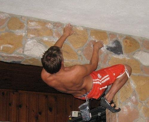 Rock Climbing Photo: This is me in my living room