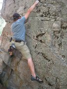 Rock Climbing Photo: This is on the back side of 'The Pebble'from the o...