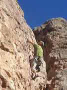 Rock Climbing Photo: Craig starting the crux of Baroque Period.