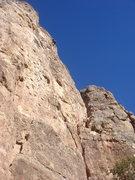 Rock Climbing Photo: Nan at the anchor.