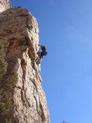 Rock Climbing Photo: Nan leading Pueblo Gringos.